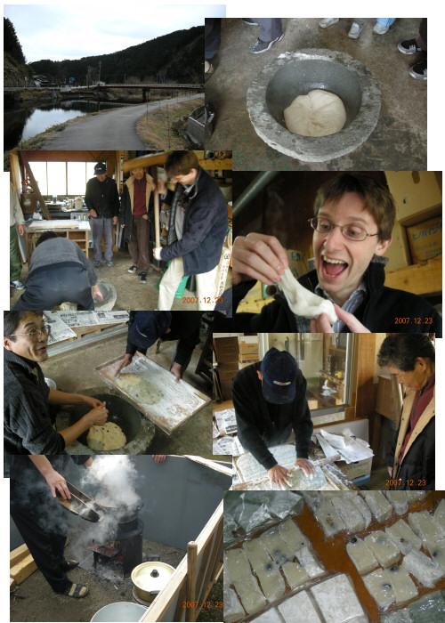 Making Japanese rice cakes - mochi