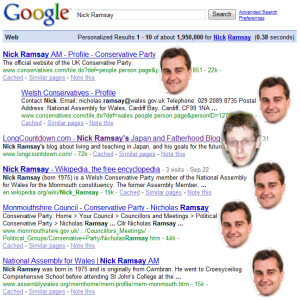 Google search results for Nick Ramsay
