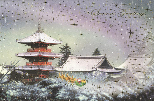 Japanese-style Christmas cards - Kiyomizu temple