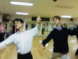 M-sensei and I in ballroom action