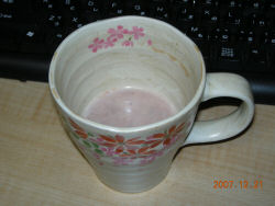 Nearly finished hot chocolate