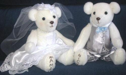 Mami's homemade wedding bears